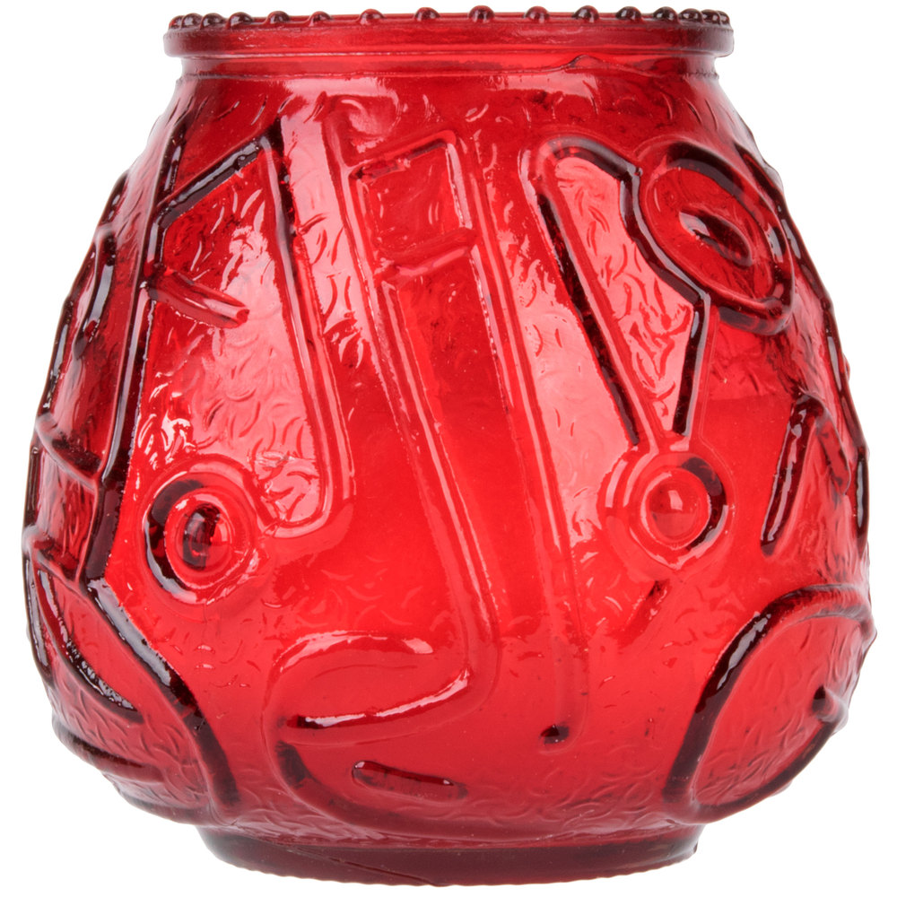 CANDLE VENETIAN RED 12CT